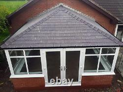 4m x 4m uPVC Edwardian Conservatory with a tiled solid roof Supplied & Fitted
