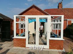 5m x 3m Hipped Edwardian Conservatory With A Tiled Warm Roof Supplied & Fitted