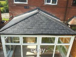 5m x 3m uPVC Edwardian Conservatory With A Tiled Solid Roof Supplied & Fitted
