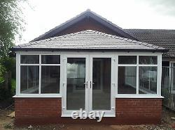 6m x 3m uPVC Edwardian Conservatory With A Tiled Solid Roof Supplied & Fitted