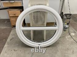 915 Opening Circle Upvc Window Round White UNGLAZED