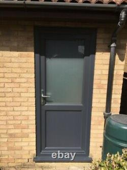 Black Or Grey Upvc Back Door Any Size Clear / Obscure Glass Free Delivery