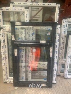 Brand New Upvc Window anthracite grey /white 785 W x 1250 h fully glazed