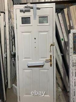Brand new upvc composite door in dark blue / white 810 x 2070