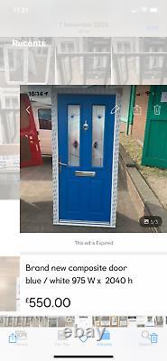 Brand new upvc composite door the best on eBay blue/ white 975 x 2040