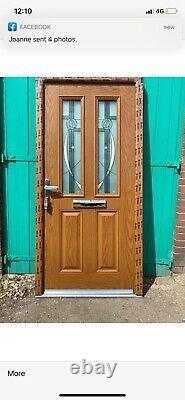 Brand new upvc composite door the best on ebay 1000 w x 2090 h in oak