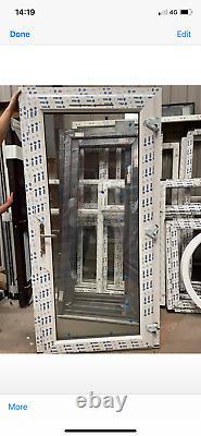 Brand new upvc door anthracite grey/white ral 7016