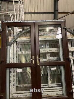 Brand new upvc french door in rosewood/ white 1770 x 2090 open out