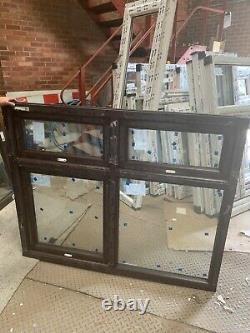 Brand new upvc rosewood window fully glazed 1470mm W x 1210 h best on ebay