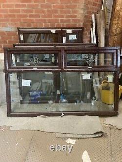 Brand new upvc rosewood window fully glazed 1980 mm W x 1210 h best on ebay