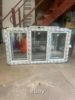 Brand new upvc window bottom openin sash 1740x1000 fully glazed rosewood/white