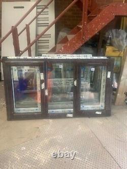 Brand new upvc window sideopening sash 1760 x 1000 fully glazed rosewood/white