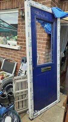 Composite door (Blue) and frame (White)