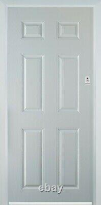 Composite front door anthracite Grey with White Frame