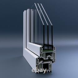 Dreh-Kipp-Links, Fenêtre PVC, Veka 82 Md Soupirail Plastique Winkhaus, Blanc