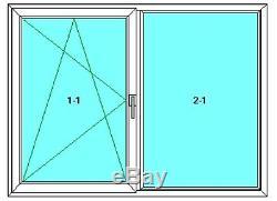 Dreh-Kipp-Links, Hard, PVC Window, Veka 70 Ad, Glass 1,0 Winkhaus, White