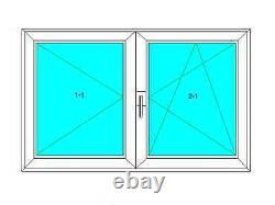Dreh-Links, Stulp, Dreh-Kipp-Rechts, PVC Fenster, VEKA 82 MD, Glas 0,5 Weiß