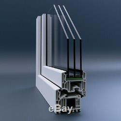 Dreh-Links, Stulp, Dreh-Kipp-Rechts, PVC Window, Veka 82 Md, Glass 0,5 White