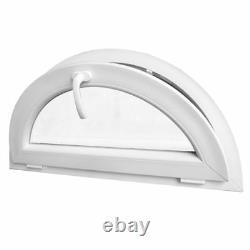 Fenêtre demi-cercle à soufflet 110 x 55 cm 120 x 60 cm 130 x 65cm Blanc