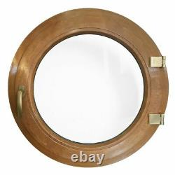 Fenêtre ronde à la française Chêne Doré diamètre 55 60 65 70 80 90 100 cm PVC