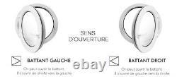 Fenêtre ronde à la française Noyer diamètre 55 60 65 70 80 90 100 cm PVC