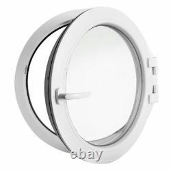 Fenêtre ronde à la française diamètre 120 cm PCV Blanc 1200 mm