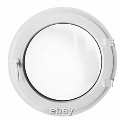 Fenêtre ronde à la française droit gauche 550 600 650 700 800 900 1000 mm Blanc