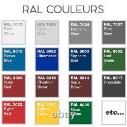 Fenêtre ronde à la française en couleur RAL 550 600 650 700 800 900 1000 mm PVC