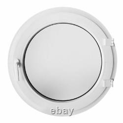 Fenêtre ronde à la française verre dépoli opaque 50 60 65 70 80 90 100 cm blanc