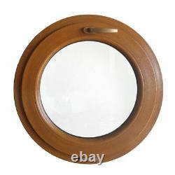Fenêtre ronde à soufflet Chêne Doré 500 550 600 650 700 800 900 1000 mm PVC