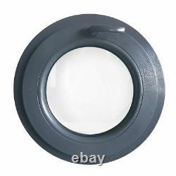 Fenêtre ronde à soufflet Gris Anthracite 500 550 600 650 700 750 850 900 100 PVC