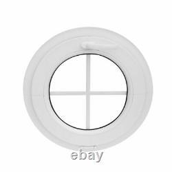 Fenêtre ronde à soufflet avec croisillons 500 550 600 650 700 800 900 1000 mm
