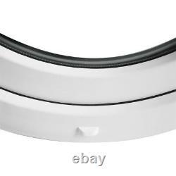 Fenêtre ronde à soufflet avec croisillons 70, 80, 90, 100 cm Oeil de boeuf Blanc