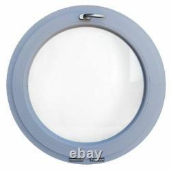 Fenêtre ronde à soufflet en couleur RAL 500 550 600 650 700 800 900 1000 mm PVC
