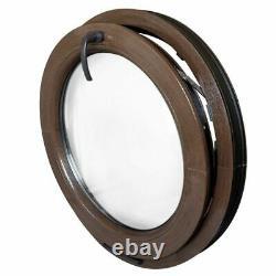 Fenêtre ronde à soufflet en couleur au choix 50 55 60 65 70 75 80 90 100 cm PCV