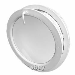 Fenêtre ronde à soufflet verre dépoli 500 550 600 650 700 800 900 1000 mm blanc