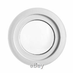 Fenêtre ronde blanche à soufflet diamètre 50 55 60 70 80 90 100 110 120 cm PVC