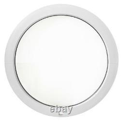 Fenêtre ronde fixe PVC 50, 55, 60, 65, 70, 80, 90, 100, 110, 120cm oeil de boeuf