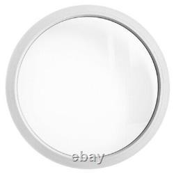 Fenêtre ronde fixe PVC blanc 50 55 60 65 70 80 90 100 cm double triple vitrage