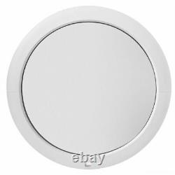 Fenêtre ronde fixe PVC blanc verre dépoli 500 550 600 650 700 800 900 1000