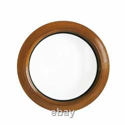 Fenêtre ronde fixe chêne doré 50 55 60 70 80 90 100 110 120 cm PVC oeil de boeuf