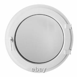 Finestra rotonda a battente vetro satinato 55 60 65 70 75 80 85 90 95 100 cm PVC