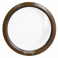 Finestra rotonda fisse PVC Noce 500 550 600 650 700 750 800 850 900 mm