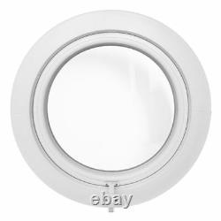 Finestra rotonda oblò a sporgere 65 cm 70 cm 75 cm 80 cm in PVC bianco