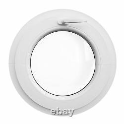 Finestra rotonda oblò a vasistas 500 550 600 650 700 mm in PVC bianco