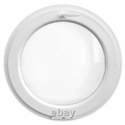 Finestra rotonda oblò a vasistas 800 850 900 950 1000 1100 1200 mm PVC bianco