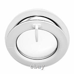 Finestra rotonda oblò a vasistas diametro 50 55 60 65 70 cm in PVC bianco