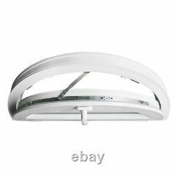 Halbrundfenster Kipp Weiß 700x350 800x400 900x450 1000x500 Kunststoff VEKA
