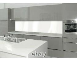 Küchenrückwand Wandverkleidung Spritzschutz Fliesenspiegel Ersatz weiß 2 x 1 m