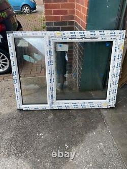New Upvc Rosewood / White Casement Window 1350mm wide x 1010mm high